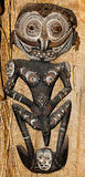 Native mask papua new guinea. From a tribe that workships crocodiles stock photos