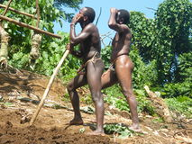 Native men in Vanuatu Stock Photography
