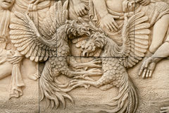 Native molding art on wall Stock Image