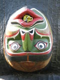 Native North American Indian Art. Wooden carving by native indian american in British Columbia Royalty Free Stock Photography