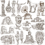 Native and old art pack - Freehand sketching Royalty Free Stock Image