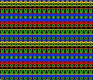 Native Pattern in Bright Colors Royalty Free Stock Images