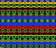Native Pattern in Bright Colors Stock Photography