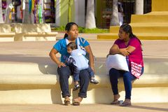 Native people in Cozumel, Mexico, Caribbean Stock Images