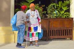 Native people in Havana, Cuba royalty free stock photos