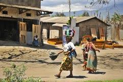Native people made affairs. ARUSHA, TANZANIA - NOVEMBER 25: Native people made affairs near main road on November 25, 2011 in Arusha, Tanzania. Arusha is a city stock images