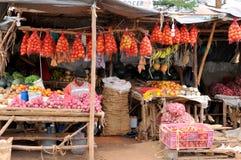 Native people made affairs. ARUSHA, TANZANIA - NOVEMBER 25: Native people made affairs near main road on November 25, 2011 in Arusha, Tanzania. Arusha is a city royalty free stock photos