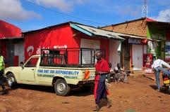 Native people made affairs. ARUSHA, TANZANIA - NOVEMBER 25: Native people made affairs near main road on November 25, 2011 in Arusha, Tanzania. Arusha is a city stock photography