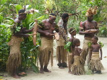 Native people in Vanuatu. Native people in the island  of Efate, Vanuatu Royalty Free Stock Photo