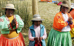 Native peruvian women Stock Photography