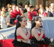 Native Polynesian Performers in downtown Memphis Stock Image