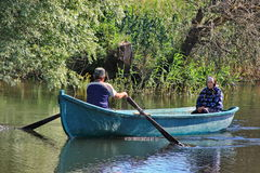 Native pwoplws from Danube Delta Stock Images