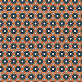 Native Rhombus Primitive Ethnic Colorful  Pattern Background Stock Images