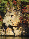 Native Rock. Native American silhouette etched in sandstone Royalty Free Stock Images