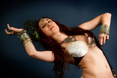 Native savage woman royalty free stock photography