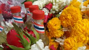 Native scent and flowers for Songkran Festival Royalty Free Stock Photography