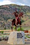 Native Sculpture at Lake Osoyoos, British Columbia, Canada. Closeup shot of native sculpture making offering in the Okanagan Valley, Southwestern Canada. Canada` Stock Image