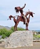 Native Sculpture at Lake Osoyoos, British Columbia, Canada. Closeup shot of native sculpture making offering in the Okanagan Valley, Southwestern Canada. Canada` Royalty Free Stock Photos