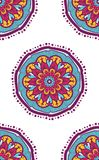 Native Seamless Pattern from mandala. Ethnic boho backdrop. Arabic or indian ornament for wallpaper, print and textile. Vector Royalty Free Stock Photo