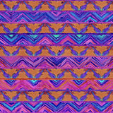 Native seamless watercolor artistic boho style colorful square p. Native watercolor artistic colorful pattern. Ethnic boho style. Seamless draw tribal square stock images
