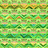 Native seamless watercolor artistic boho style colorful square pattern. Native watercolor artistic colorful pattern. Ethnic boho style. Seamless draw tribal Stock Photo