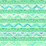 Native seamless watercolor artistic boho style colorful square pattern. Native watercolor artistic colorful pattern. Ethnic boho style. Seamless draw tribal Royalty Free Stock Photos