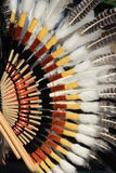 Native South American costume. Detail of Native South American costume - Condor wing stock image