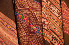 Native southamrican fabric Royalty Free Stock Image