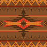 Native Southwest American, Indian, Aztec, Navajo and Pueblo seam. Ethnic seamless pattern. Native Southwest American, Indian, Aztec textiles. Navajo and Pueblo royalty free illustration