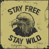 Native spirit poster with eagle. Illustration Stock Images