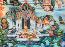 Native Thai Buddhist mural Stock Images