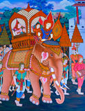 Native Thai mural Royalty Free Stock Photography