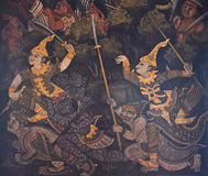 Native Thai mural Royalty Free Stock Image