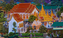 Native Thai mural painting Royalty Free Stock Image