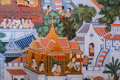 Native Thai mural painting Royalty Free Stock Photography