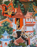 Native Thai mural painting Stock Photography