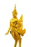 Native Thai style angel statue. On white background Stock Photos