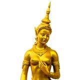 Native Thai style angel statue. On white background Stock Image
