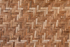 Native Thai style bamboo house pattern Stock Images