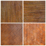 Native Thai Style Bamboo Wall Bamboo Pattern Stock Photos
