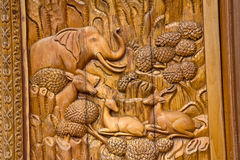Native Thai Style Carving Royalty Free Stock Image