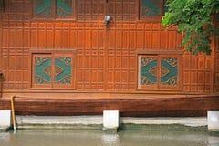 Native Thai style carving windows Stock Photos