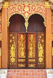 Native Thai style church door Stock Photos