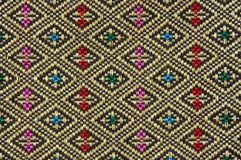 Native thai style cloth. Texture of native thai style cloth Royalty Free Stock Photos