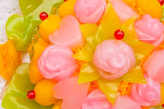 Native Thai style colorful dessert Stock Photo