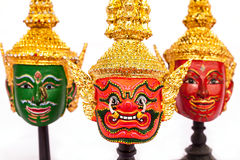 Native Thai style giant mask. Use in royal performance, Khon Stock Photo