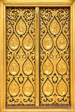 Native Thai style of pattern on door temple Royalty Free Stock Images