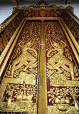 Native Thai style pattern on door temple Stock Images
