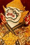 Native Thai style supreme art. Mask of Khon, native Thai style performance art stock image