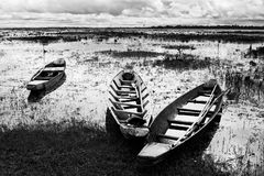 Native Thai style wood boat Stock Photography